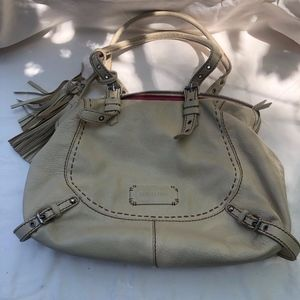 Isabella Fiore ivory cream leather purse